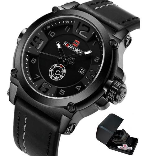 Relógio Naviforce 9099 Pulseira Couro