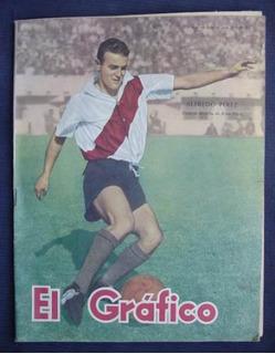 1951 Revista El Gráfico Pérez Zaguero Derecho De River Plate