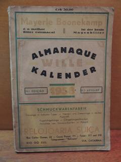 Livro Almanaque Wille 1958 Rio Do Sul Santa Catarina