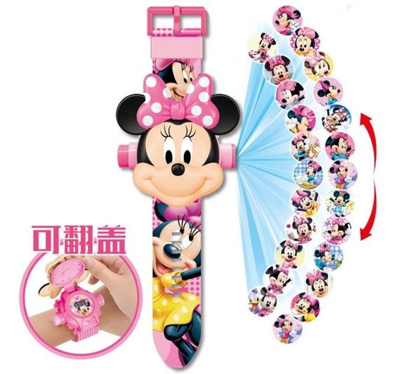 Relógio Infantil Minnie Projetor Disney - Promoção