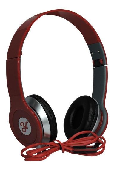 Fone De Ouvido Estéreo Ro Headphone P2 - Vermelho