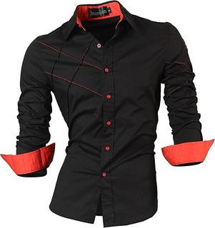 Camisas De Moda Casual Manga Larga P/ Hombres (compare Ya)