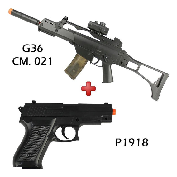 G36 Aeg Cm021 Fuzil Bivolt Cyma+ Pistola Spring P1918 Barato
