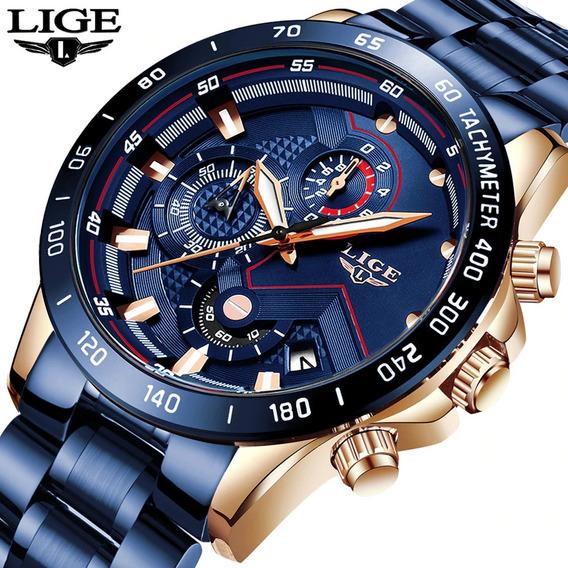 Relógio Masculino Lige - 100% Original E Funcinal!