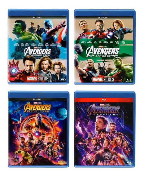 Avengers + Ultron + Infinity War + Endgame Paquete Blu-ray