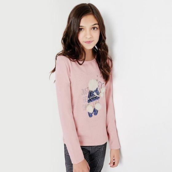 Playera Casual Pink Niña Hb3842
