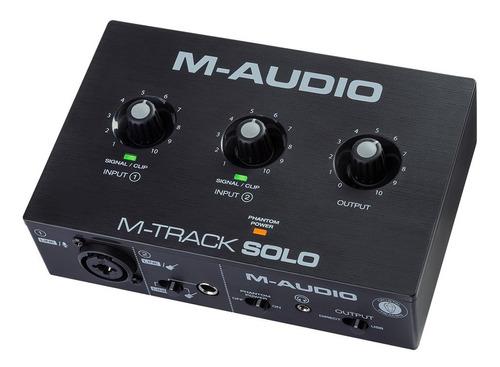 Interfaz De Grabación M-audio M-track Solo Ii Xlr Linea Um