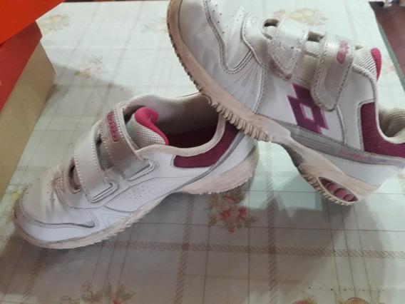 Zapatillas Marca Lotto Blancas Para Niñas