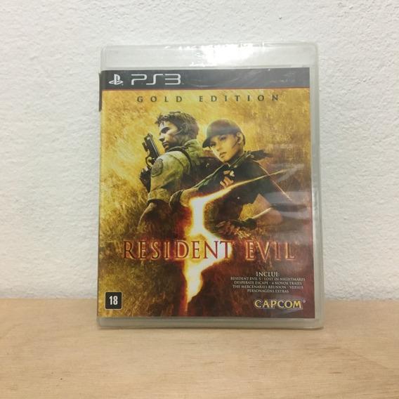 Jogo Ps3 Playstation 3 Resident Evil 5 Gold Edition Lacrado