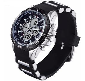 Relógio Weide Sports Led Digital E Analógico Wh-1103-1 Preto