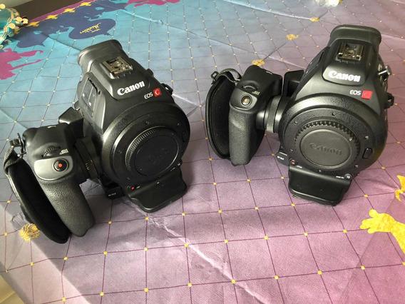 Pacote!!! 2x Cameras Filmadoras Canon C100 + Lente + Case