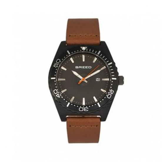 Modelo Varon Reloj Breed Ranger Brd8006 - Negro/marrón Clar