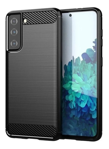 Imagen 1 de 1 de Funda  Para  Samsung S21 S21 Plus S21 Ultra Carbono