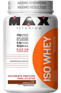 Iso Whey 900gr - Max Titanium - Promoção