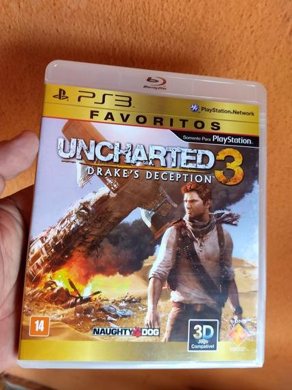 Uncharted 3 Ps3 Midia Fisica Semi Novo