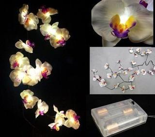 Orquideas Blancas Con Leds De Baterias