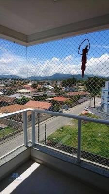 Apartamento Novo No Centro De Tijucas, 2 Dormitórios (1 Ste), Sac C/ Churr A Carvão, Vista Livre, Mobília, Elev, 1 Vaga - Ap1847