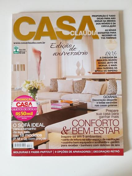 Revista Casa Claudia 561 De Maio De 2008 Edição Aniversário