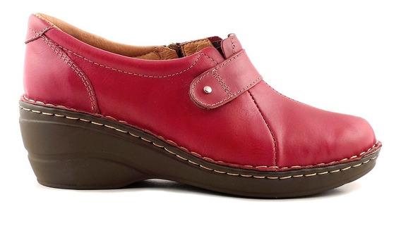 Zapato Cuero Mujer Briganti Mocasin Taco Confort - Mcmo03625