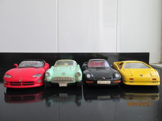 Lote 1\24 Porsche - Corvette - Dodge Vipper - Lamborghini