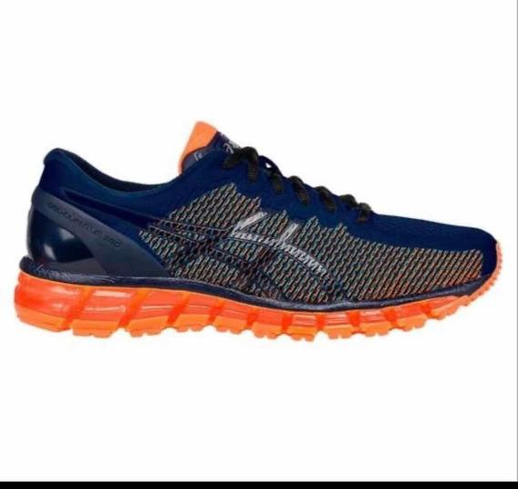 Tênis Running Asics Gel-quantum 360 Cm - Marinho E Laranja