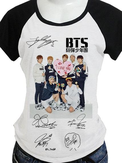 Camiseta Camisa Babylook Bts 45 Opções Costas/utt Blusa C443