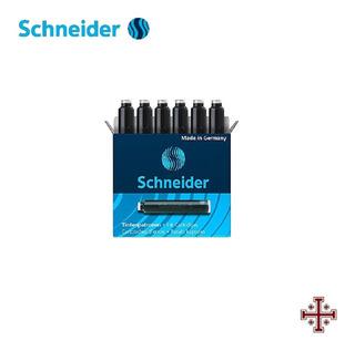 Cartucho Para Pluma Fuente. Schneider. Tinta Negra (6 Pzas)