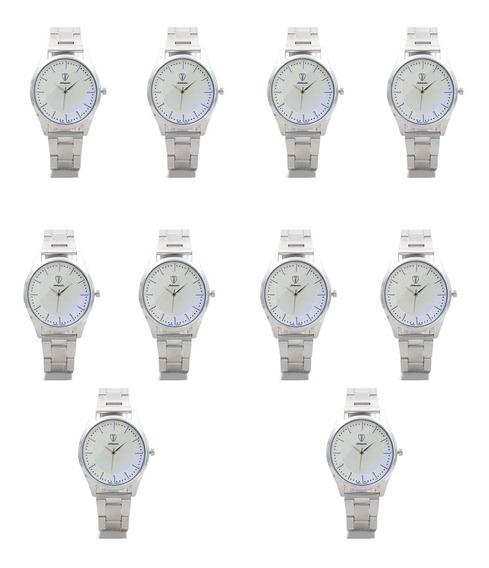 10 Reloj Metálico Elegante Economico Calidad Envio Gratis