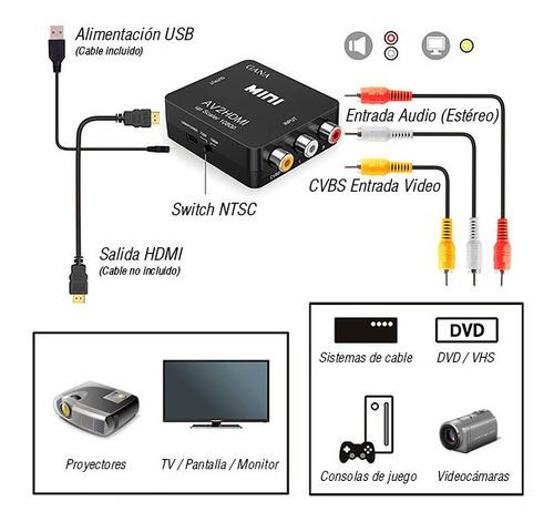 Convertidor Rca A Hdmi Conecta Deco A Tv Smart Tv Hd Chacao