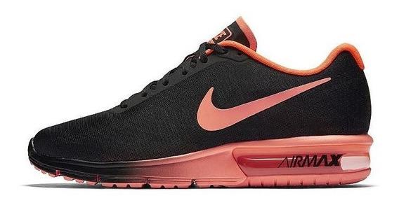 Tênis De Corrida Nike Air Sequent Preto Tamanho 44 Original
