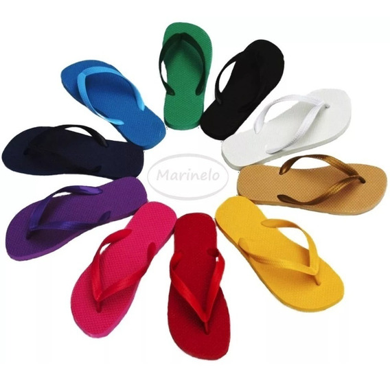 Chinelos Tipo Havaianas - 5 Slim + 5 Flat Up (100% Borracha)