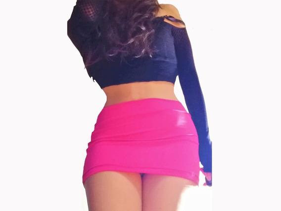Mini Falda Sexy Rosa Chicle + Bonito Regalo Sorpresa