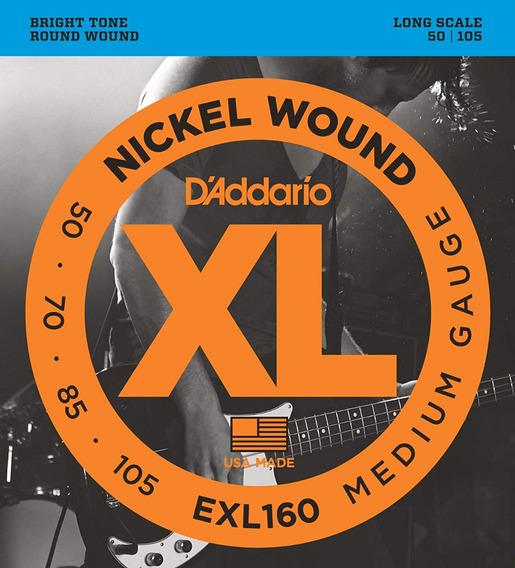 Encordado Daddario Exl160 Xl 050 - 105 Para Bajo 4 Cuerdas