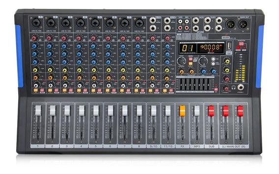 Mesa De Som Amplificada Arcano Cc-12 Canais 110v Interface