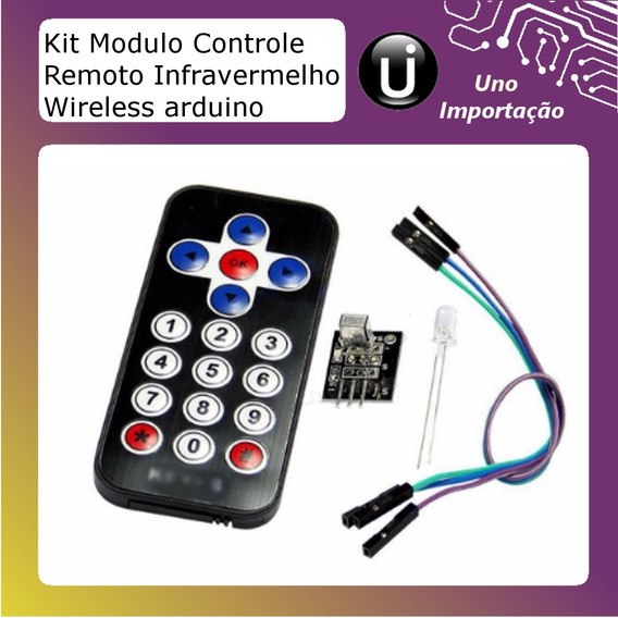 Kit Modulo Controle Remoto Infravermelho Wireless Arduino