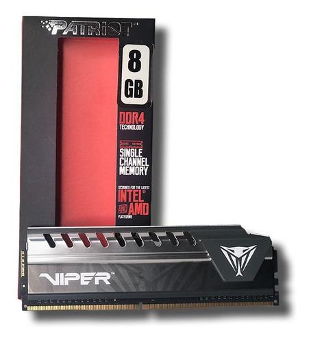 Imagem 1 de 5 de Memoria Ram Ddr4 8gb 2400 Mhz Patriot Viper Elite