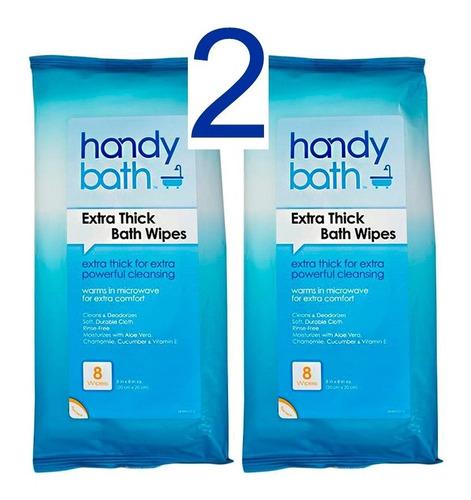 Imagen 1 de 3 de Toallitas Húmedas Para Baño En Seco  (flow Pack Con 8)