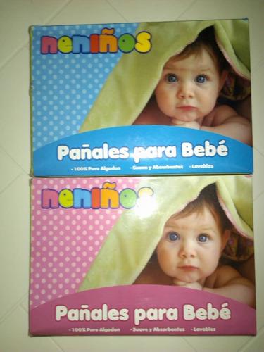 Pañales De Tela Neniños Estampados De Algodón Bebes