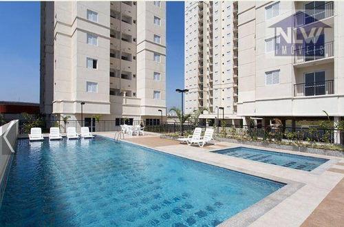 Apartamento Com 2 Dormitórios À Venda, 48 M² Por R$ 297.400,00 - Jardim Monte Líbano - Santo André/sp - Ap0258