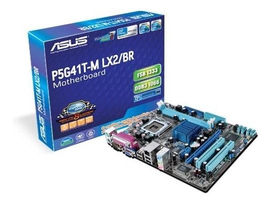 Placa P5g41t-m Lx2 /br + Cooler, Core 2 Duo E6400 + 8gb Ddr3