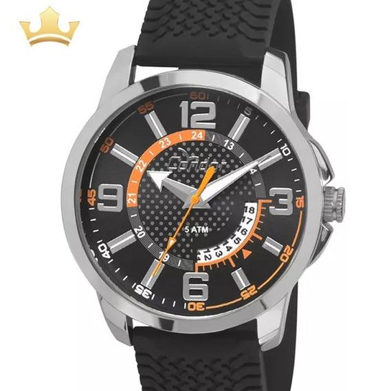 Relógio Condor Masculino Analógico Silicone Original + Nf