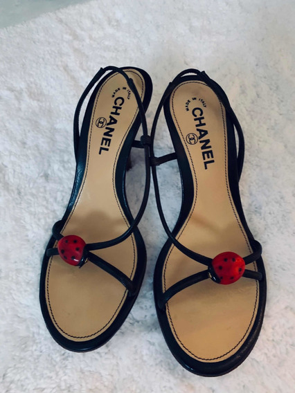 Sandália Chanel: Chanel Ladybug Slingback Sandals