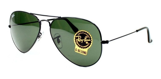 Lentes Ray Ban Aviador 100% Original Negro G-15 Rb3025 L2823