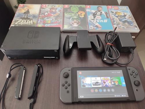 Nintendo Switch 32 Gb Con 5 Juegos Fisicos!