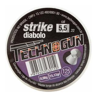 Chumbinho Technogun Strike Diabolo 5.5 M 125 Uni Carabina
