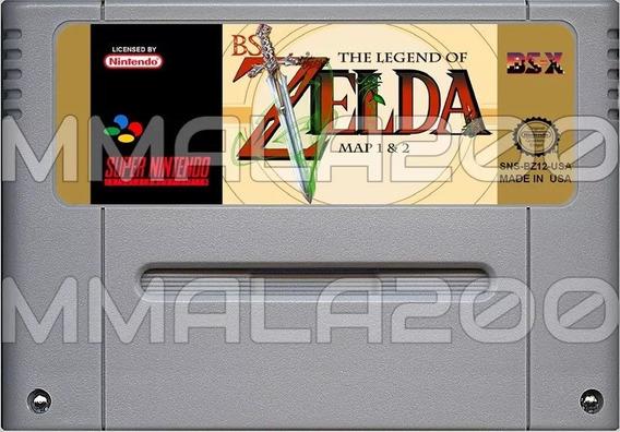 Bs Zelda Map 1 E Map 2 Inglês Original Snes Super Nintendo