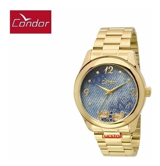 Relógio Condor Feminino Co2039ad/4a C/ Pingentes Aço