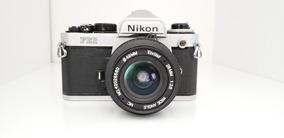Câmera Analógica Nikon Fe2 + Lente - Leia O Anúncio