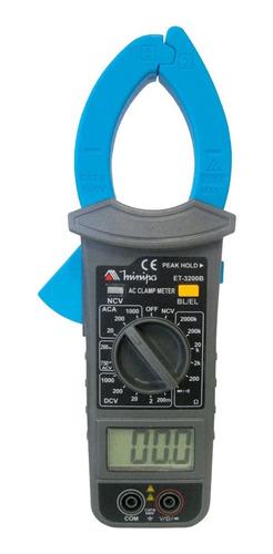 Imagem 1 de 4 de Alicate Amperímetro Digital Et-3200b 1000a Ac - Minipa