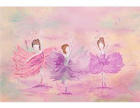Fundo Fotográfico Tecido Infantil Bailarinas 2,6x1,7 Ffc-477
